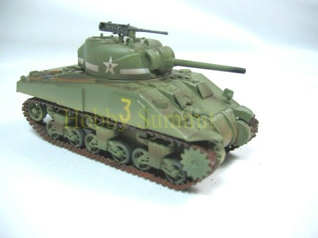 1/72 US WWII SHERMAN  M4 MEDIUM TANK  1st Arm Division Painted Finished Plastic