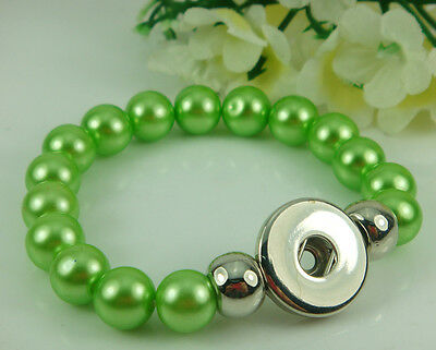 HOT stretch Alloy Chunks Charm Beads bracelet fit Snap Button Chunks wholesale