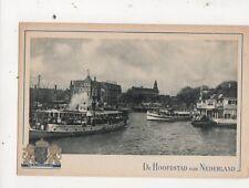 Amsterdam Voor Het Centraal Station Vintage Postcard Netherlands 643a