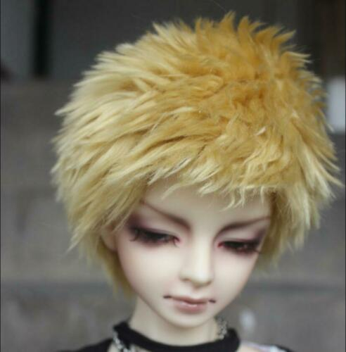 "BJD fabric fur wig to 8-9/"" 22-24CM 1//3 SD DD Multi-color Wool Doll Hair Headgear"