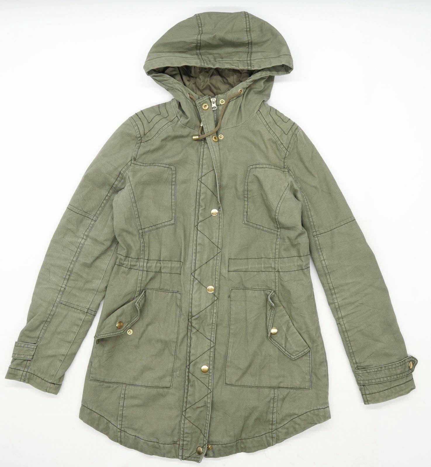 Atmosphere Womens Size 6 Cotton Green Lightweight Coat