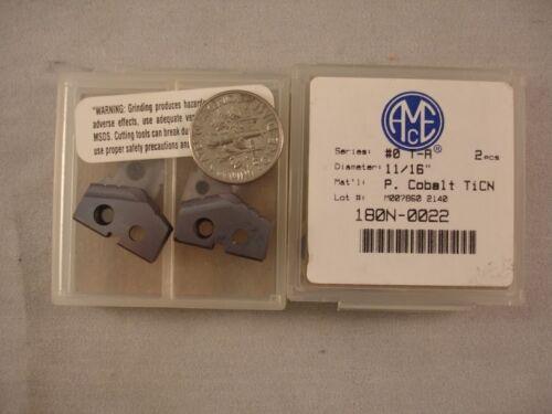 "0# T-A 11//16/"" AMEC P 2pcs 1430 COBALT Allied Spade Drill Inserts"