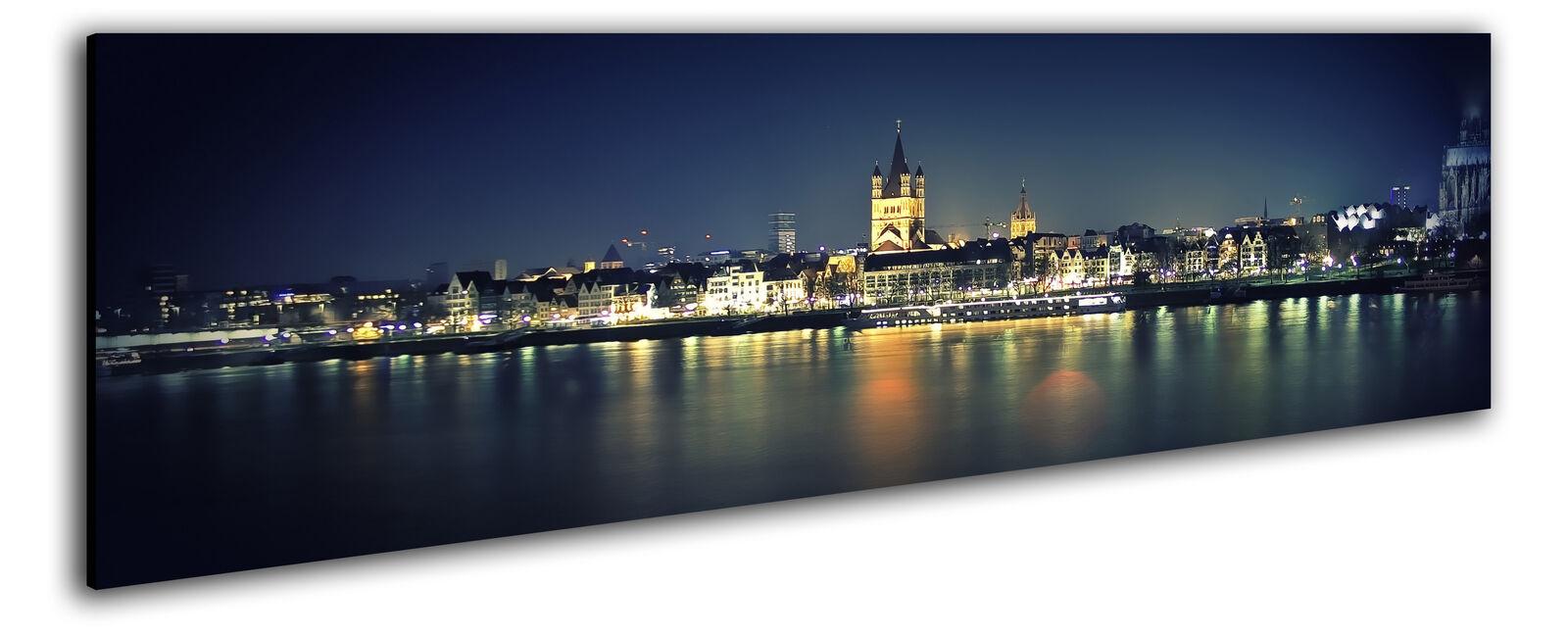 150x50cm image panoramique la Fresque belechtung toile Cologne skyline belechtung Fresque 7258ca