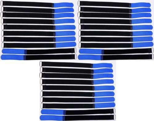 Öse 30 Klett Kabelbinder 300 x 20 mm blau Kabelklettband Kabelklett Klettband m