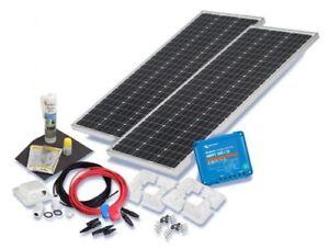 solaranlage 200w solarset 200 watt premium wohnmobil mit eckprofilen solarmodul ebay. Black Bedroom Furniture Sets. Home Design Ideas