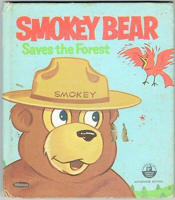 Vintage Children S Tell A Tale Book Smokey Bear Saves The Forest Ebay