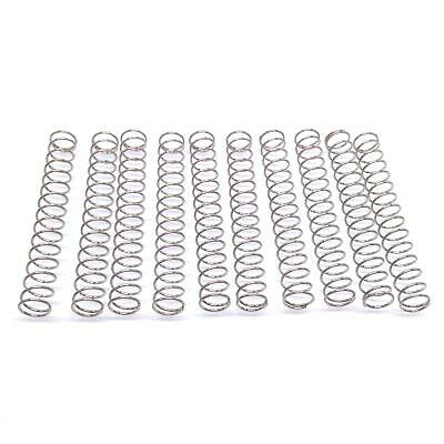 10x 0.8mm Wire Dia Stainless Steel Compression Spring Pressure OD 12mm Length 30
