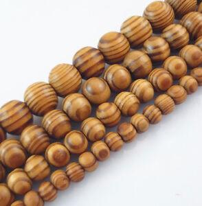 8-10-12-16-18mm-Natural-Wood-Round-Loose-Spacer-Beads-Jewelry-DIY-Bracelet-UK-2H