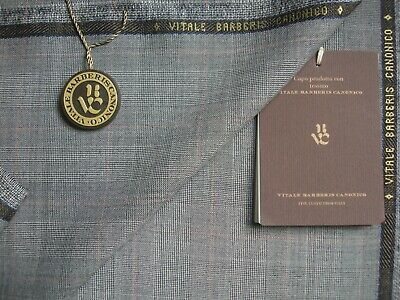 Vitale Barberis Canonico SUER 110's WOOL SUITING FABRIC MADE IN ITALY 3.4 m.