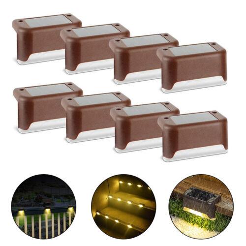 8er Set LED Solar Treppenlicht Stufenleuchte Bodenlicht Beleuchtung Gartenlicht