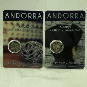2 Euro Gedenkmünze Münze Coin Andorra Rundfunk Radio Tv Reform