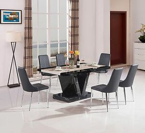 Marble effect mdf coffee table dining table and matching for Mobilia kitchen table