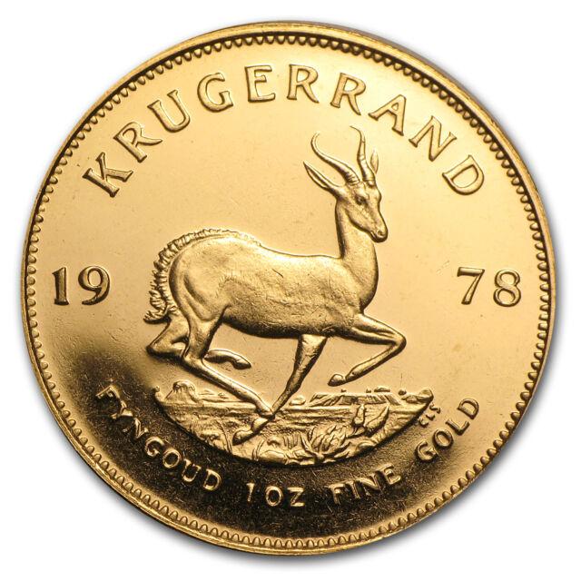 1978 South Africa 1 Oz Gold Krugerrand Sku 23734