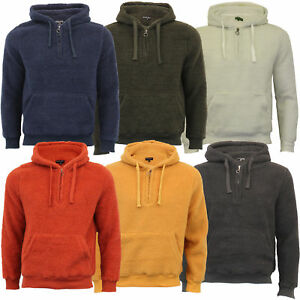 Mens-Borg-Sherpa-Fleece-Sweatshirt-Brave-Soul-DAIM-Over-The-Head-Hooded-Top-Warm