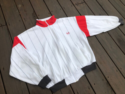 VTG Fred Perry Sports Wear Track Jacket Mens L Whi