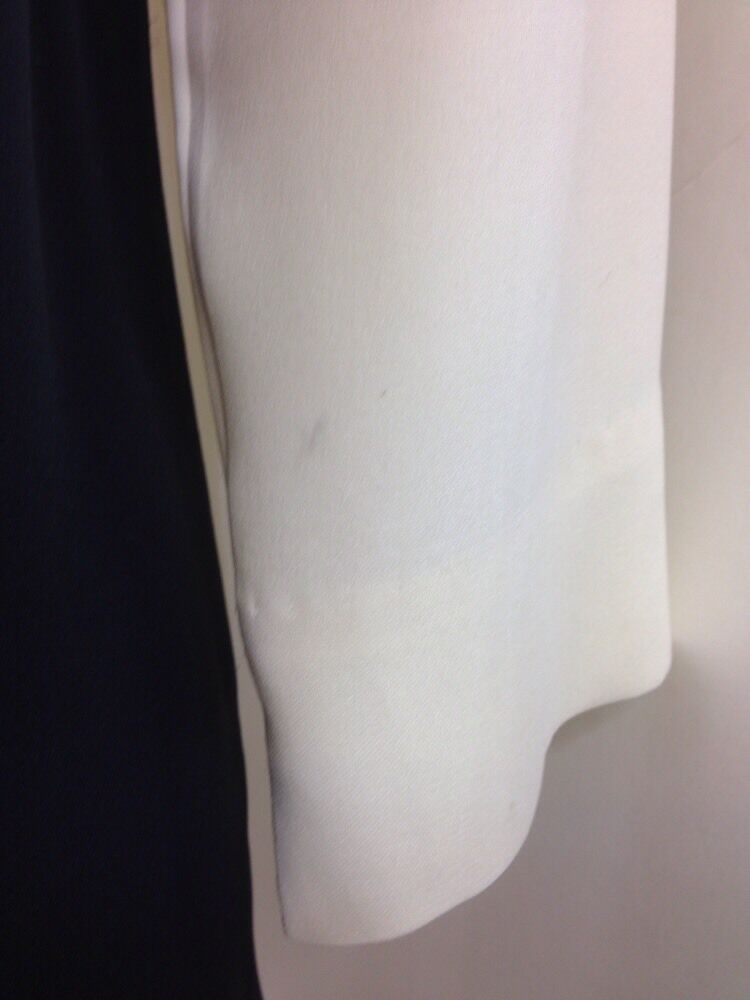 Rag & Bone Blouse Ivory And Black Silk Size Med - image 4