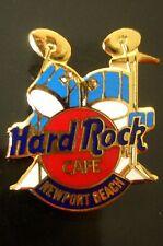 HRC Hard Rock Cafe Newport Beach Blue Drum Set Red Logo