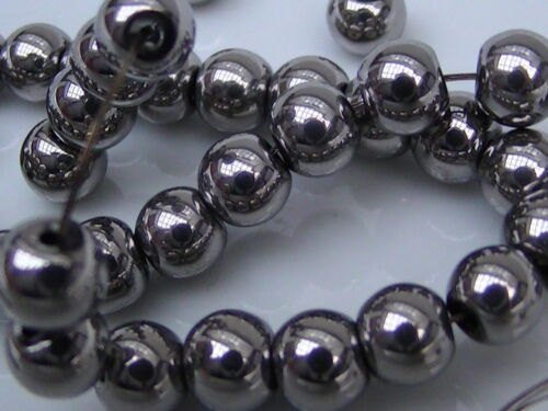 BOX123 4mm Bicone 6mm. Electroplated Glass Beads Round Oval