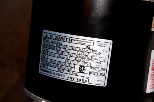 Smith 2 Speed Fan Motor  1//4 hp  2 speed   FSE1024  *** Warranty A.O