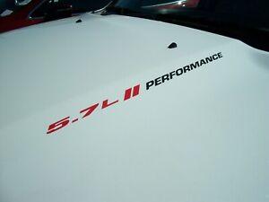 Hood vinyl sticker decals Hemi Dodge Ram 1500 2005  FITS pair 5.7L PERFORMANCE