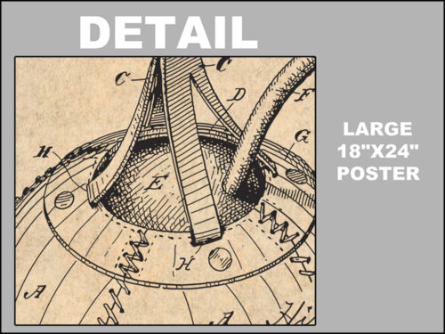 1891 Boxing Speed Striking Bag Patent Print Art Drawing Poster 18X24