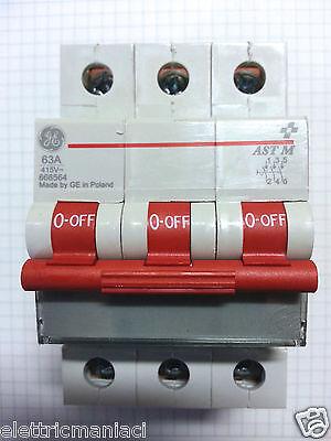 GE General Electric Interrupteur principal 666564 Interrupteur AST M 63 A