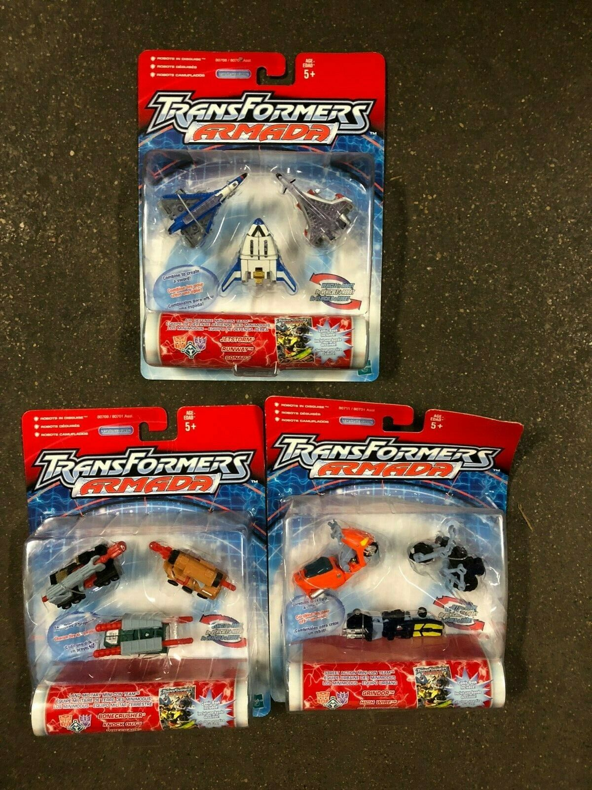 Hasbro Transformers Robots In Disguise Armada Lot of 3 Toys NEW in package