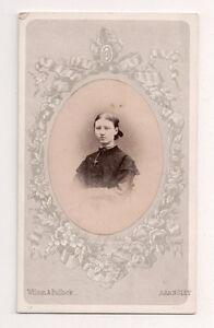 Vintage-CDV-Miss-Thorpe-Nicely-Framed-Wilson-amp-Bullok-Photo-Barnsley