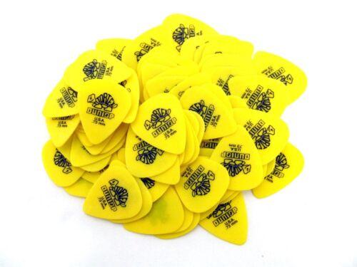 Dunlop Guitar Picks  Tortex  72 Pack .73 MM  Yellow   Medium 418R73