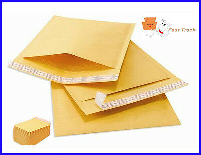 500 x Genuine Gold Jiffy Airkraft Bubble Padded Envelope Bag JL1 170 x 245mm
