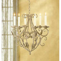 Wrought Iron Royalty Hanging Chandelier Elegant Shabby Victorian Candle Holder