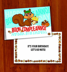 Image Is Loading BUON COMPLEANNO ITALIAN HAPPY BIRTHDAY CARD