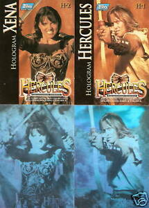 Xena-Hercules-H-1-H-2-H1-H2-Hologram-insert-trading-card-2-card-set