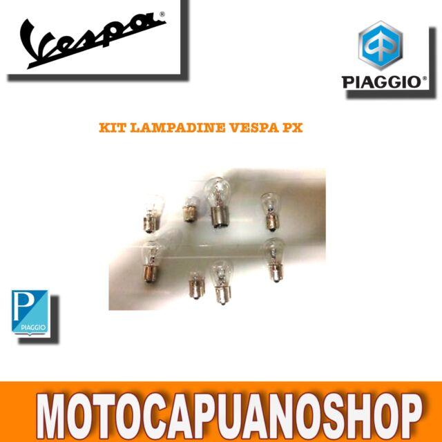 KIT LAMPADINE FARO + FANALE VESPA PX 125 150 200 .