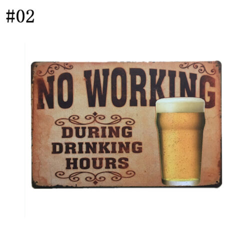 Retro Metal Tin Sign Poster Plaque Bar Pub Club Cafe Plate Art Wall Decor Lot