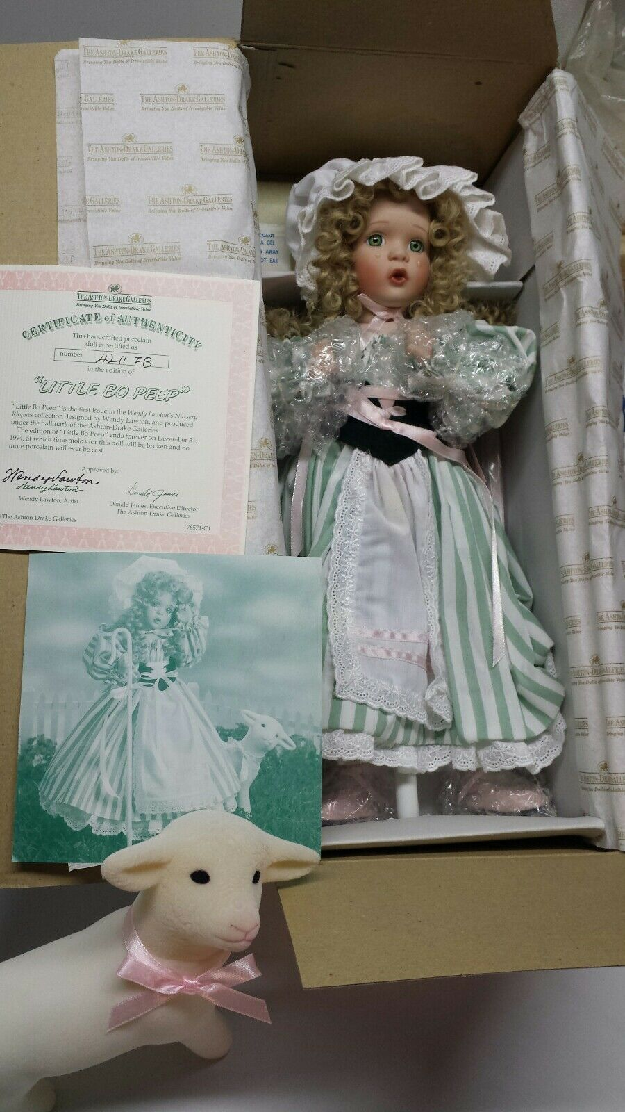 Ashton Drake Galleries Muñeca De Porcelana  Little Bo Peep