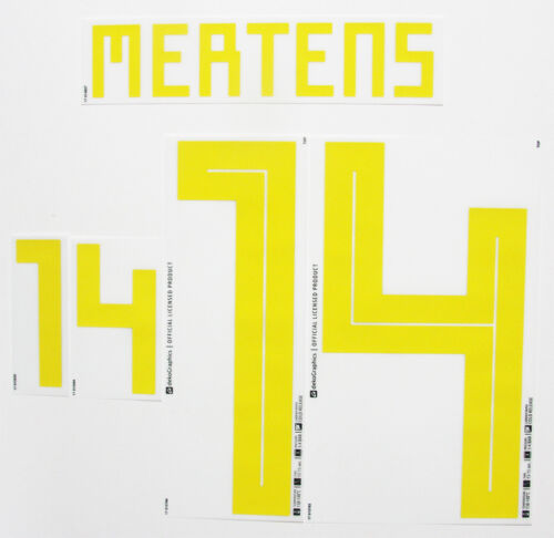 MERTENS 14 2018 WORLD CUP NAME BLOCK FOR BELGIUM = ADULT SIZE