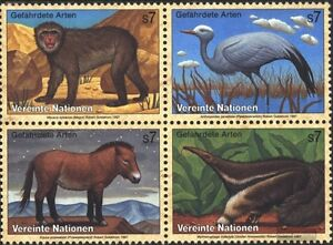 complete Issue Rational Un-vienna 222-225 Block Of Four Used 1997 Affe