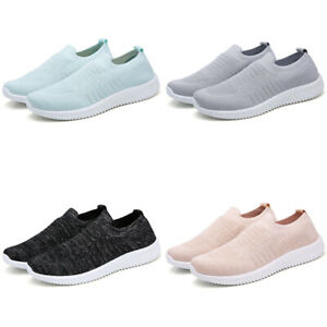 Women-039-s-Sneakers-Casual-Shoes-Breathable-Mesh-Walking-Slip-On-Running-Shoes-US