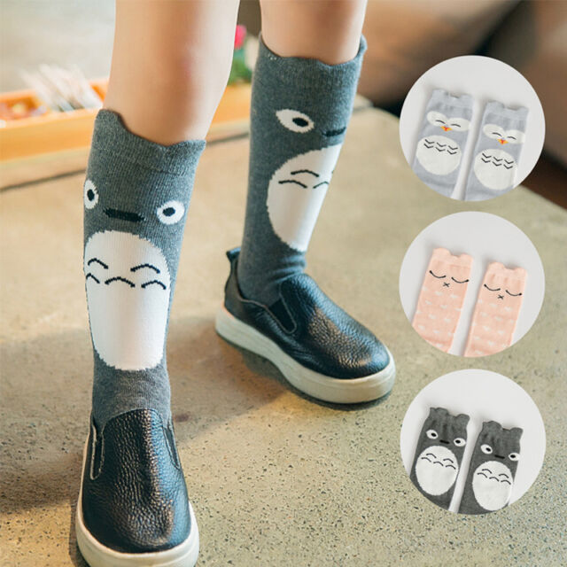 0-4 Years For Toddlers Kids Girls Cute Knee High Combed Cotton Socks Hosiery