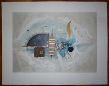 Cucej Roland Lithographie et gaufrage signée art abstrait abstraction Art