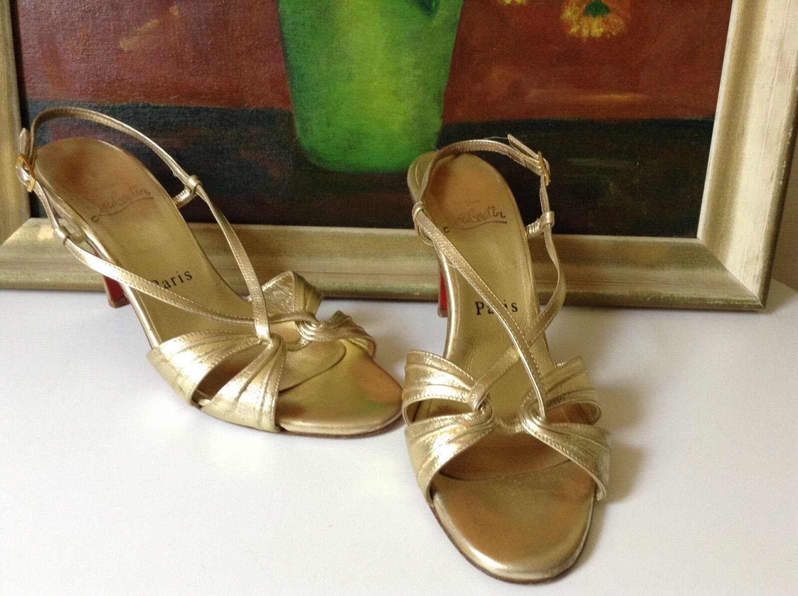 Veri sandali di pelle  Coloreee oro.-US 7  fino al 50% di sconto
