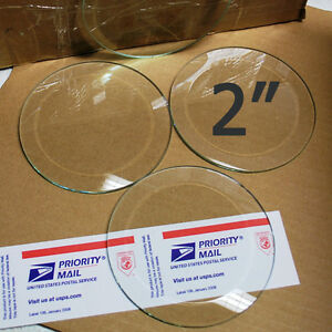 box-of-30-2-inch-CIRCLE-Bevels-Clear-Glass-Beveled-on-top-Flat-on-Back