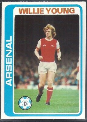TOPPS-FOOTBALL PALE BLUE BACK 1979 -#068- ARSENAL WILLIE YOUNG
