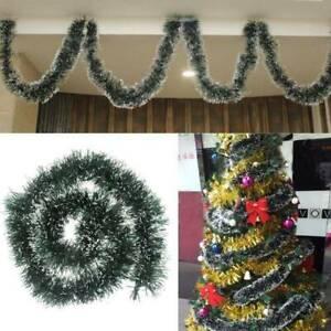 2M-LUXURY-TRAMA-GROSSA-DECORAZIONI-Chrismas-Tree-Decorazione-Ornamento-Natale-Ghirlanda-Verde
