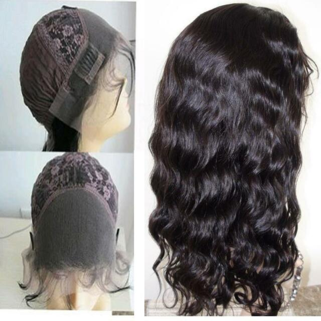 body wave 100% indian remy human hair front lace wigs full wig 8''-22'' stock