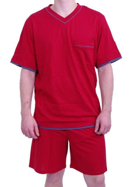 716c14216f1dda Seidensticker Herren kurzer Schlafanzug Pyjama kurz - 104278 rot 48 ...