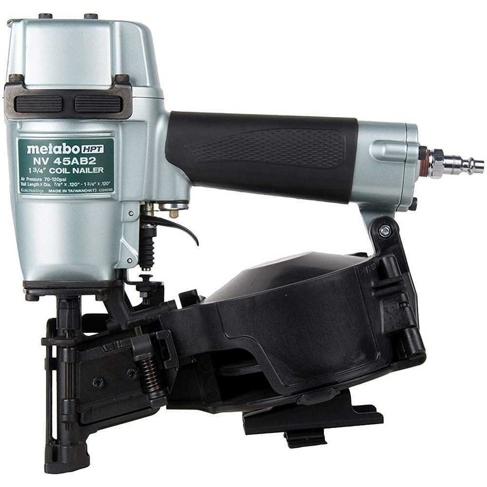 Replaces Hitachi NV45AB2 tools-plus-outlet Metabo HPT NV45AB2M 7/8 to 1-3/4 16 Deg Professional Roofing Coil Nailer