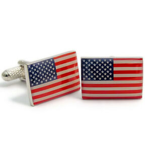 Super USA Flag American Stars Stripes Cufflinks by Onyx Art New CK118