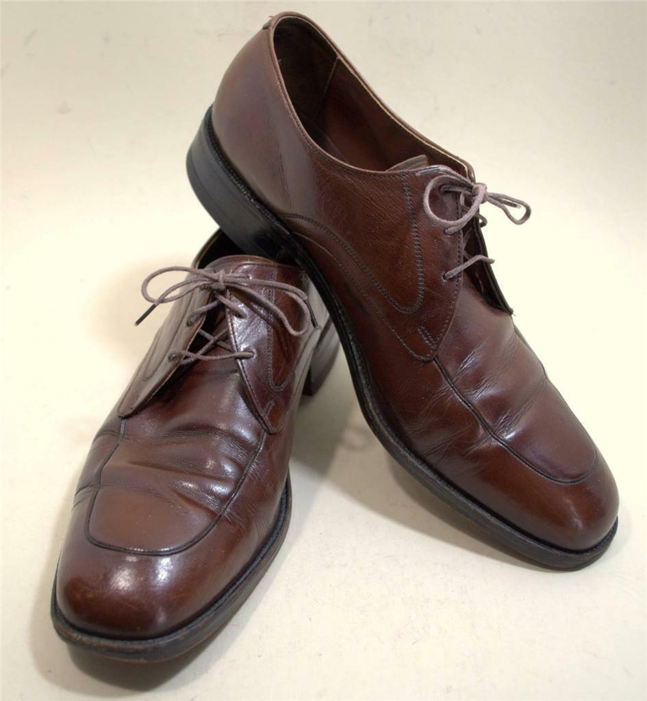 Freeman Free-Flex Mens Dress Oxford shoes Size 10 1 2 D Brown Leather